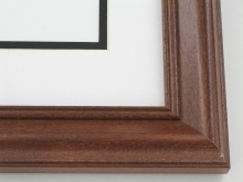 "wood Custom Picture Frame Sku: 625  1 1/2"" Rosewood"