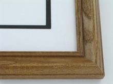 "Custom Picture Frame Sku: 626  1 1/2"" Walnut On Ash"