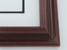 "wood Custom Picture Frame Sku: 642  1 1/2"" Rosewood"