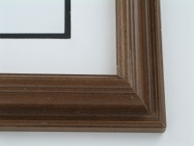 "wood Custom Picture Frame Sku: 643  1 3/4"" Reverse Chestnut"