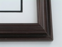 "wood Custom Picture Frame Sku: 645  1 3/4"" Reverse Walnut"