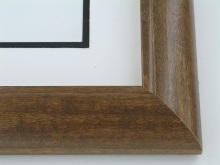 "wood Custom Picture Frame Sku: 649  1 3/4"" Quarter Round Walnut"