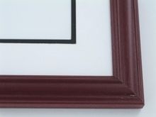 "wood Custom Picture Frame Sku: 659  1 1/4"" Mahogany Double Rib"