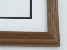 "Custom Picture Frame Sku: 664  1 1/4"" Reverse Walnut"