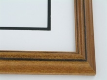 "Custom Picture Frame Sku: 666  1 1/4"" Reverse Pecan With Black"