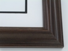 "Custom Picture Frame Sku: 667  2"" Reverse Walnut"