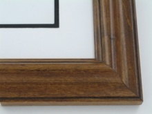 "Custom Picture Frame Sku: 669  2"" Pecan With Black Lines"