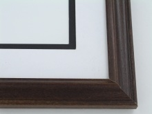 "Custom Picture Frame Sku: 670  1 1/8"" Walnut Reverse"