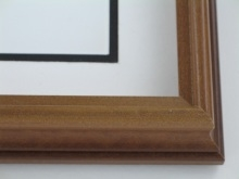"wood Custom Picture Frame Sku: 674  1 3/4"" Walnut Shadow Box"