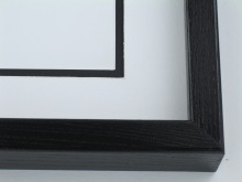 "Custom Picture Frame Sku: 677  1 1/2"" Ash Black"