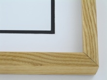 "wood Custom Picture Frame Sku: 678  1 1/2"" Deep Ash Honey Color"
