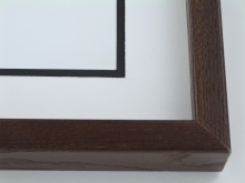 "wood Custom Picture Frame Sku: 679  1 1/2"" Ash Satin Walnut"