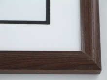 "wood Custom Picture Frame Sku: 689  1"" Satin Walnut"