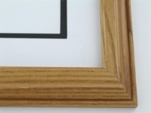 "wood Custom Picture Frame Sku: 691  1 1/2"" Rev. Walnut On Ash"