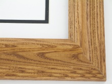 "wood Custom Picture Frame Sku: 700A  1 3/4"" Walnut On Oak Reverse"