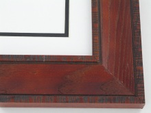 "wood Custom Picture Frame Sku: 706A  2"" Red Walnut Distressed Oak"
