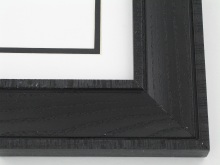 "wood Custom Picture Frame Sku: 707A  2"" Black Distressed Oak"
