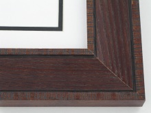 "wood Custom Picture Frame Sku: 708A  2"" Satin Walnut Distressed Oak"