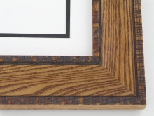 "wood Custom Picture Frame Sku: 709A  2"" Oak Distressed"