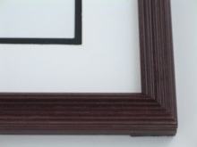"wood Custom Picture Frame Sku: 712  1 1/8"" Mahogany Whistler"