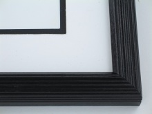 "Custom Picture Frame Sku: 714  1 1/8"" Black Whistler"