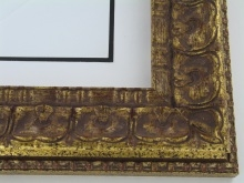 "wood Custom Picture Frame Sku: 740  3 1/8"" Antq Gold W/compo"
