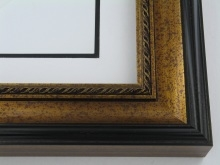 "wood Custom Picture Frame Sku: 743  2 3/4"" Antq Gold"