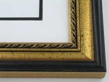 "wood Custom Picture Frame Sku: 744  1 7/8"" Antq Gold"