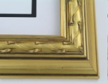 "wood Custom Picture Frame Sku: 745  2 1/4"" Lite Gold"