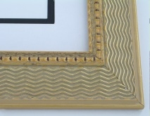 "wood Custom Picture Frame Sku: 756  2 1/4"" Antique Gold Compo"