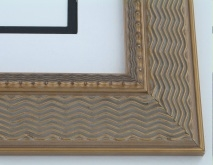 "wood Custom Picture Frame Sku: 758  2 1/4"" Antique Bronze Compo"
