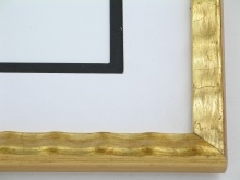 "Custom Picture Frame Sku: 762  3/4"" Gold Scalloped"