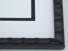 "Custom Picture Frame Sku: 764  3/4"" Black Scalloped"
