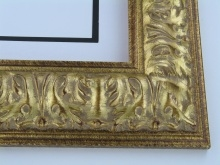 "Custom Picture Frame Sku: 766  3 3/4"" Gold Ornate"
