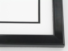 "Custom Picture Frame Sku: 767A  1"" Flat Top High Gloss Black"
