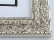 "wood Custom Picture Frame Sku: 773  2 1/4"" Silver Ornate"