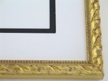 "Custom Picture Frame Sku: 774  3/4"" Soft Gold Compo"