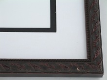 "wood Custom Picture Frame Sku: 775  3/4"" Antq Mahogany"