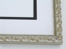 "wood Custom Picture Frame Sku: 776  3/4"" Soft Silver Compo"