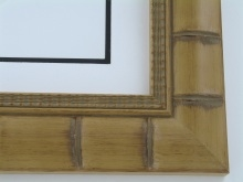 "wood Custom Picture Frame Sku: 778A  2 3/4"" Tan Bamboo"