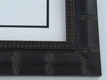 "wood Custom Picture Frame Sku: 779A  2 3/4"" Black Bamboo"