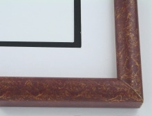 "Custom Picture Frame Sku: 817  1"" Red Over Gold"