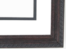 "Custom Picture Frame Sku: 844  1 1/4"" Dark Walnut W/compo On Ash"