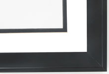 "Custom Picture Frame Sku: 869  1 1/2"" Black With Back Lip"