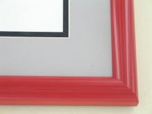 metal Custom Picture Frame Sku: 87-101  Cardinal Red