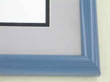 metal Custom Picture Frame Sku: 87-105  Slate Blue