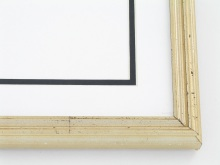 "Custom Picture Frame Sku: 874  3/4"" Distressed Light Antique Gold"