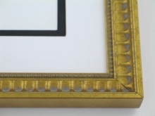 "Custom Picture Frame Sku: 876  1"" Broken Gold Compo Scoop"