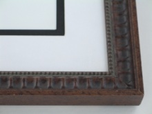 "wood Custom Picture Frame Sku: 877  1"" Walnut Compo Scoop"