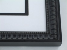 "wood Custom Picture Frame Sku: 879  1"" Black Compo Scoop"